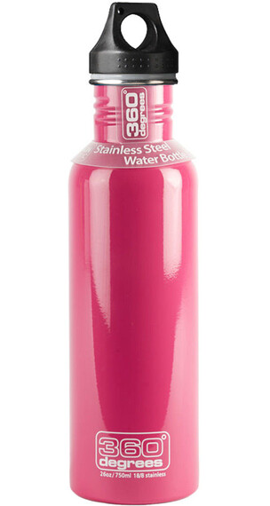 360° degrees Stainless Drink Bottle 750ml pink